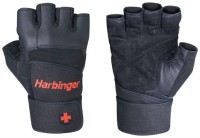 Harbinger Pro Wrist Wrap Gym & Fitness Gloves (L, Black)