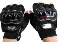 PRO BIKER Pro Biker Half Cut Gloves Black L Size Driving Gloves (L, Black)