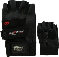 AllExtreme WEIGHT LIFTING & Sports Exercise Training Gym & Fitness Gloves (L, Black)
