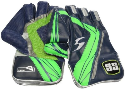 SS Platino Wicket Keeping Gloves (Men, Blue, Green)