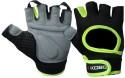 Kobo Training Gym & Fitness Gloves - S, Black, Green