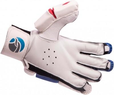 FLX Cestus Classic Batting Gloves (Men, White, Blue)