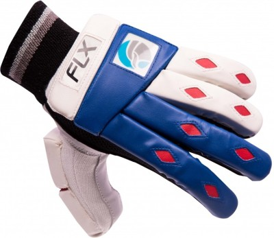 FLX Cestus Classic Batting Gloves (Men, White, Blue)