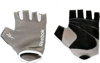 Reebok Elements Gym & Fitness Gloves (Grey, White)