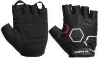Vector X VX-300 Hexagon Gym & Fitness Gloves (M, Black)