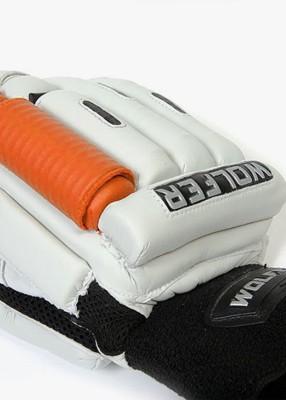 Wolfer Player Edition (Right Hand) Batting Gloves (Men, Orange, White)