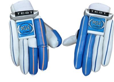 Turbo MSE TEST LITE Batting Gloves (Men, White, Blue)