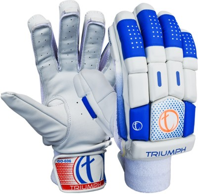 Triumph 606 Batting Gloves (Men, White, Blue)