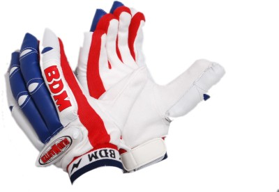 BDM Club Master Batting Gloves (Men, Red, Blue)
