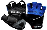 Kobo WTG-04BLU Gym & Fitness Gloves (M, Black, Blue)