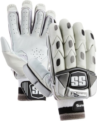 SS Gladiator Batting Gloves (Men, White, Black)