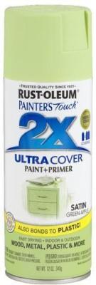 Rust-Oleum Painter's Touch Satin Green Apple Spray Paint 340 ml
