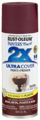 Rust-Oleum Painter'S Touch Satin Claret Wine Spray Paint 340 ml
