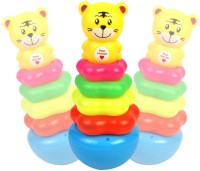 Pigloo Cartoon Tiger Ring Stacking Roly-Poly Toy (Multicolor)
