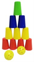 Jaywebstore Fun Fair Game 2 In One Aim, Throw & Break The Tower (Multicolor)