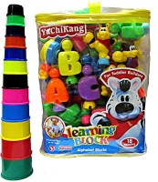 V.T. Alphabet Learning Blocks With Stacking Tower (Multicolor)