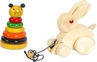 Mnc Combo Of(Ring Set TeddyBear + Rabbit) (Multicolor)