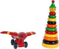 Mnc Combo Of(Joker Ring Set+Aeroplane) (Multicolor)
