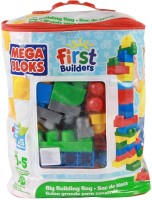 Mega Bloks Mega Bloks Big Building Bag - 80 Pieces (Multicolor)