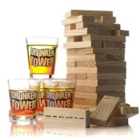 Packnbuy Drunk Tower Game For Party Home Picnics Bachelorettes Game Set (Multicolor)