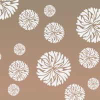 Decorze Brown Wall Decor FS-16 Flower Stencil (Pack Of 1, Floral)