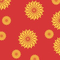 Decorze Orange Wall Decor FS-19 Flower Stencil (Pack Of 1, Floral)