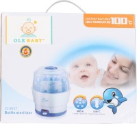 Ole Baby 6 Feeding Bottle Electric Steam Sterlizer Cum Food Warmer Cum Heating(upto 250 Ml Each) - 6 Slots (White)