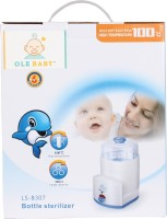 Ole Baby 3 Feeding Bottle Electric Steam Sterlizer Cum Food Warmer Cum Heating(Upt 250 Ml Each) - 3 Slots (White)