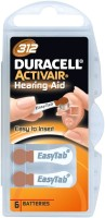 Duracell Activair Easytab Hearing Aid Batteries Size 312 (6 PCS) (brown)
