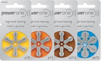 Power One Hearing Aid Battery Size 675 (60 PCS) (Blue)