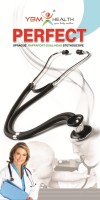 YBM Sprague Rappaport Dual Head Acoustic Stethoscope (Black)