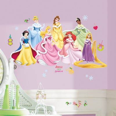 RoomMates Disney Princess Holiday Princess Wall Decal Acrylic Sticker