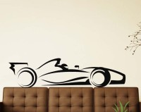 Vitin Enterprises Sports Car Black Colour Wall Decal Self-adhesive Sticker (Pack Of 1)
