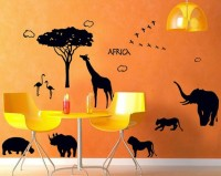 SYGA Africa Wall Pvc Vinyle Sticker (Pack Of 1)