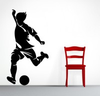 Decor Kafe Decal Style Men Hitting Ball Art Small Size-10*18 Inch Wall Sticker Sticker (Pack Of 1)