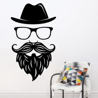 Decor Kafe Face Self Adhesive Wall Decal Large Size-28*49 Inch Wall Sticker Sticker (Pack Of 1)
