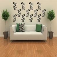 DeStudio Elegant Ornaments Color (Black) Size (150cms X 60 Cms) Wall Sticker