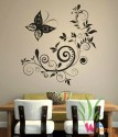 Wall Whispers Butterfly And Floral Vinyl Sticker