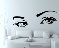 Decor Kafe Creative Eyes Self Adhesive Wall Decal Small Size-37*13 Inch Wall Sticker Sticker (Pack Of 1)
