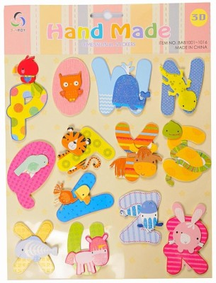 Ollington St. Collection Hand Made Alphabet & Animals 3D Sticker