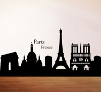 Decor Kafe City Of Paris Self Adhesive Wall Decal Large Size-52*25 Inch Wall Sticker Sticker (Pack Of 1)