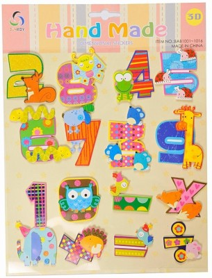 Ollington St. Collection Hand Made Numbers & Animals 3D Sticker