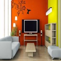 DeStudio Humming Bird Feeder Color (Black) Size (150cms X 60 Cms) Wall Sticker