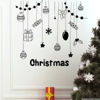 Decor Kafe Decal Style Christmas Cookies & Gifts Medium Size-21*20 Inch Vinyl Film Sticker (Pack Of 1)