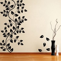 Decor Kafe Decal Style Floral Medium Size-29*30 Inch Vinyl Film Sticker (Pack Of 1)