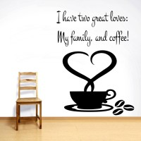 Decor Kafe Decal Style My Coffee Wall Art Large Size- 26 *35 Inch Color - Black Wall Sticker (Pack Of 1)