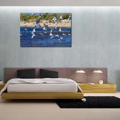 50 Off On 999store Flying Birds On River Vinyl Home Decor