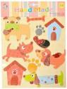 Ollington St. Collection Hand Made Dog Print 3D Sticker