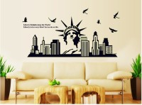 Oren Empower Glow In The Dark - Statue Of Liberty Wall Sticker (65 Cm X Cm 130, Black)