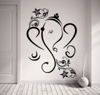 Decor Kafe Decal Style Creative Ganesha Art Small Size-18*26 Inch Wall Sticker Sticker (Pack Of 1)